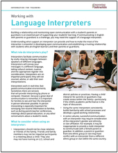 Working with Interpreters: Information for Teachers