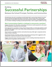 Building Successful Partnerships Between the School Principal, Families, and Communities